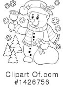 Snowman Clipart #1426756 by visekart