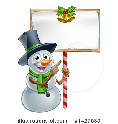 Snowman Clipart #1427633 by AtStockIllustration