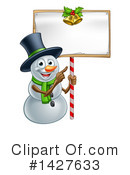 Royalty-Free (RF) Snowman Clipart Illustration #1427633