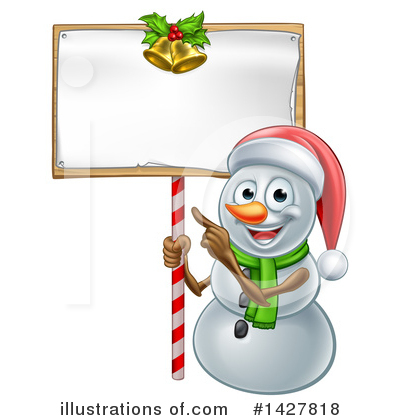 Snowman Clipart #1427818 by AtStockIllustration