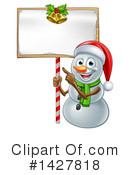 Royalty-Free (RF) Snowman Clipart Illustration #1427818