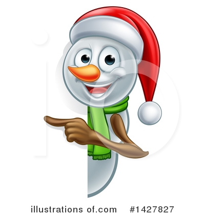 Snowman Clipart #1427827 by AtStockIllustration