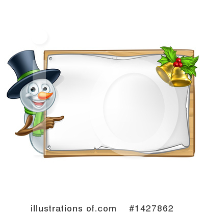 Snowman Clipart #1427862 by AtStockIllustration