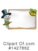 Royalty-Free (RF) Snowman Clipart Illustration #1427862