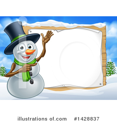 Snowman Clipart #1428837 by AtStockIllustration