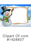 Royalty-Free (RF) Snowman Clipart Illustration #1428837