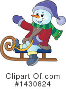 Royalty-Free (RF) Snowman Clipart Illustration #1430824