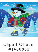 Snowman Clipart #1430830 by visekart