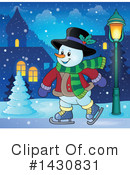 Snowman Clipart #1430831 by visekart
