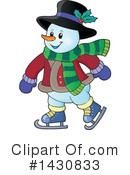 Royalty-Free (RF) Snowman Clipart Illustration #1430833