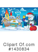 Snowman Clipart #1430834 by visekart