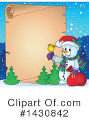 Royalty-Free (RF) Snowman Clipart Illustration #1430842
