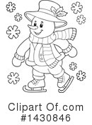 Snowman Clipart #1430846 by visekart