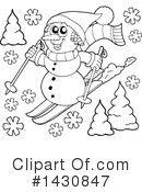 Snowman Clipart #1430847 by visekart