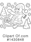 Snowman Clipart #1430848 by visekart