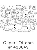 Snowman Clipart #1430849 by visekart