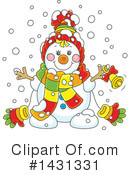 Royalty-Free (RF) Snowman Clipart Illustration #1431331