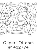 Snowman Clipart #1432774 by visekart