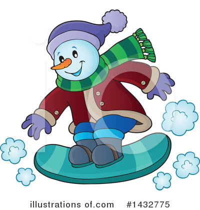 Snowman Clipart #1432775 by visekart