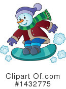 Royalty-Free (RF) Snowman Clipart Illustration #1432775