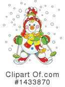 Snowman Clipart #1433870 by Alex Bannykh