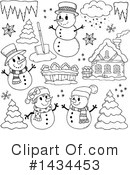 Snowman Clipart #1434453 by visekart