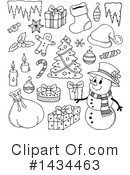 Snowman Clipart #1434463 by visekart