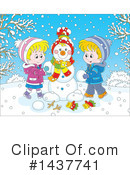 Snowman Clipart #1437741 by Alex Bannykh