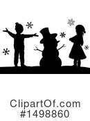 Royalty-Free (RF) Snowman Clipart Illustration #1498860