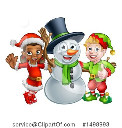 Snowman Clipart #1498993 by AtStockIllustration