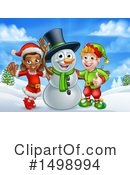 Snowman Clipart #1498994 by AtStockIllustration