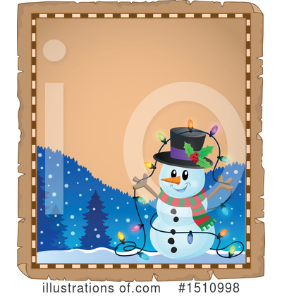 Royalty-Free (RF) Snowman Clipart Illustration by visekart - Stock Sample #1510998