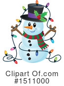 Royalty-Free (RF) Snowman Clipart Illustration #1511000