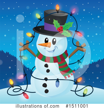 Snowman Clipart #1511001 by visekart