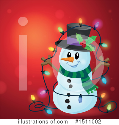Snowman Clipart #1511002 by visekart