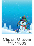 Snowman Clipart #1511003 by visekart
