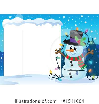 Snowman Clipart #1511004 by visekart