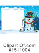 Royalty-Free (RF) Snowman Clipart Illustration #1511004