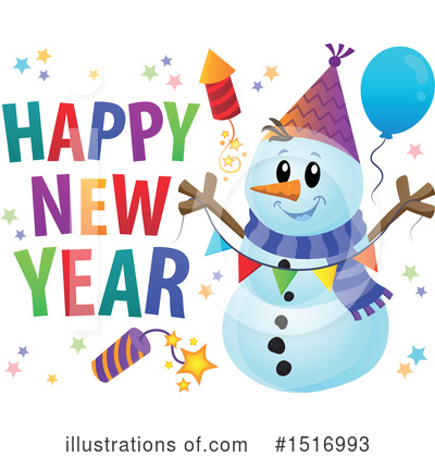 Snowman Clipart #1516993 by visekart