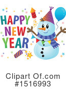 Royalty-Free (RF) Snowman Clipart Illustration #1516993