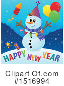 Royalty-Free (RF) Snowman Clipart Illustration #1516994