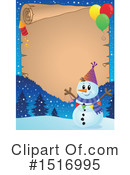Royalty-Free (RF) Snowman Clipart Illustration #1516995