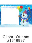 Royalty-Free (RF) Snowman Clipart Illustration #1516997