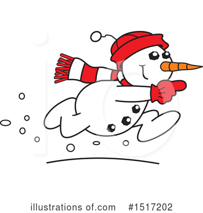 Snowman Clipart #1517202 by Johnny Sajem