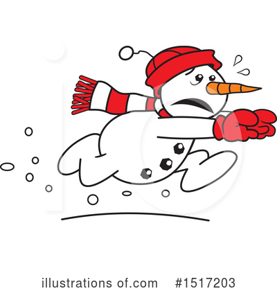 Royalty-Free (RF) Snowman Clipart Illustration by Johnny Sajem - Stock Sample #1517203