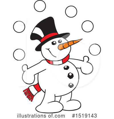 Snowman Clipart #1519143 by Johnny Sajem