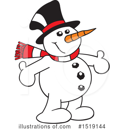 Snowman Clipart #1519144 by Johnny Sajem