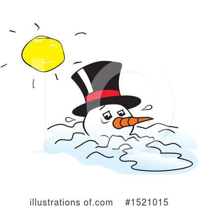 Snowman Clipart #1521015 by Johnny Sajem