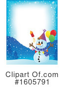 Snowman Clipart #1605791 by visekart