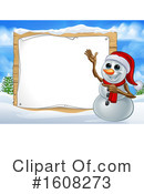 Snowman Clipart #1608273 by AtStockIllustration